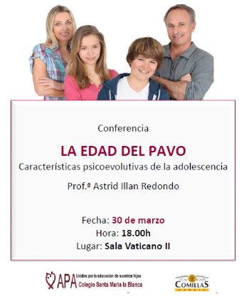 Conferencia: La Edad del Pavo- 30 de marzo